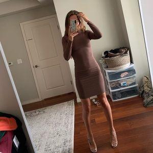 Naked Wardrobe • Long Sleeve Midi Dress